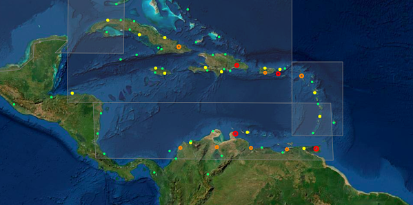 Caribbean Incidents - 6mnth period