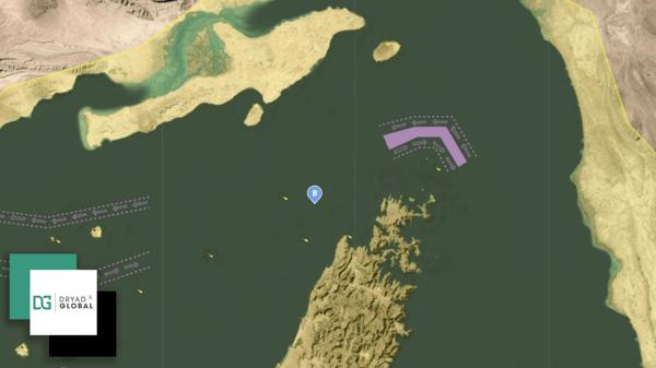Close up Strait of Hormuz