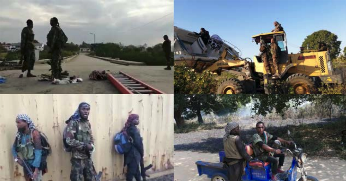ISIS photos, they claim are taken inside the Mocimboa da Praia port facilities