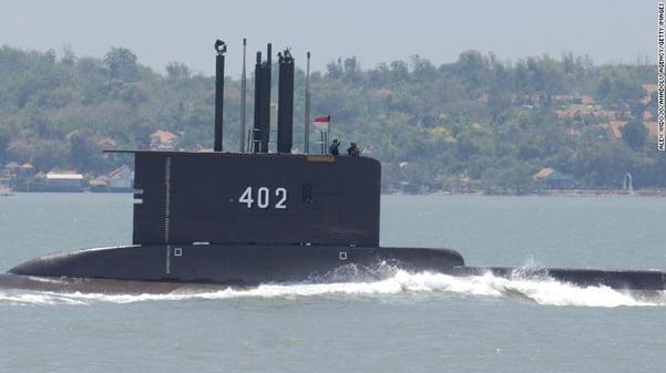 KRI Nanggala-402 submarine in September 2014 in Surabaya, East Java, Indonesia