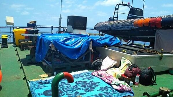 Living conditions onboard floating armoury