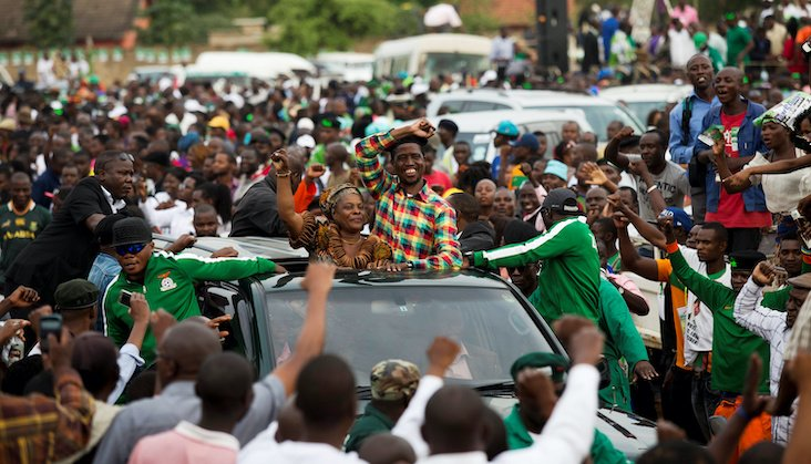 Patriotic Front presidential candidate Edgar Lungu is running for re-election in 2021.