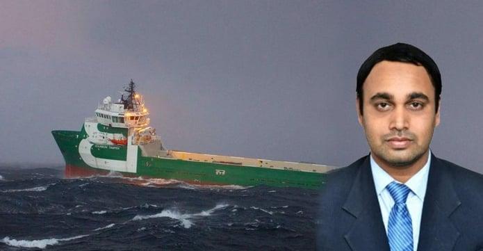 Shipping vessel MV Tampen and Deepak Udayaraj...