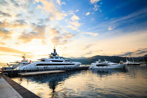 Super Yacht Port in Mediterranean