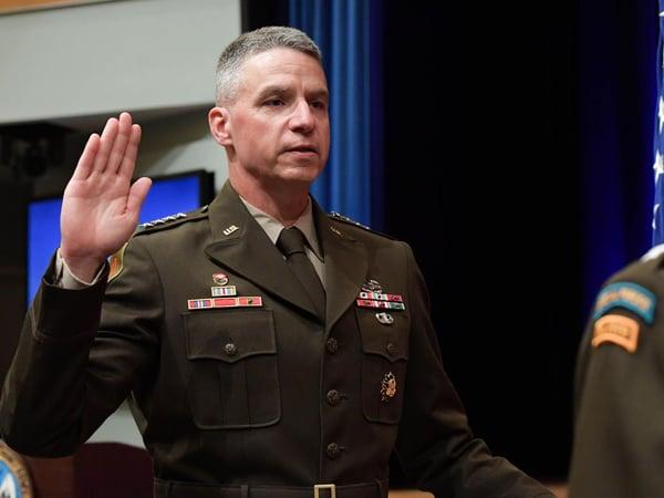 US Army vice chief of staff Joseph M Martin