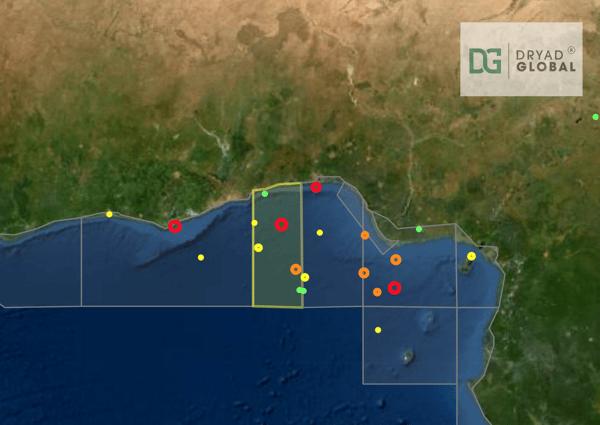 Dryad Global - Atlas map view - Gulf of Guinea